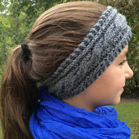 Cable Knit Ear Warmer, Cable Knit Headband
