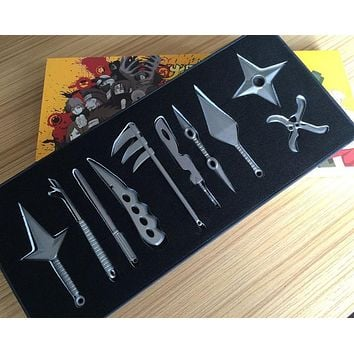 Naruto Kunai Knife Throwing Naruto Weapon Toys Ninja throwing knifes knife Naruto Metal Toy Sword  Cosplay Weapons