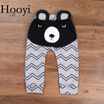 Hooyi Bear Baby Boys Pants Ripple Striped Newborn PP Panties Infant Costumes Bebe Clothing Trouser Cotton Leg Warmer Girl Tights