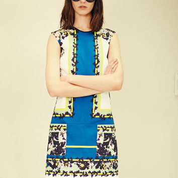 Erdem Frula Mixed Print Shift Dress