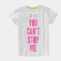 Girls' UA Catalyst Can't Stop Me Graphic T-Shirt | 1239209 | Under Armour US