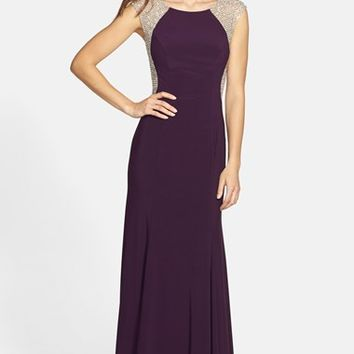 Women's Xscape Crystal Back Jersey Gown