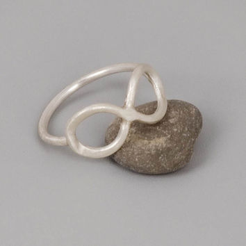 Sterling Silver Infinity Ring  Handmade Sterling by toolisjewelry