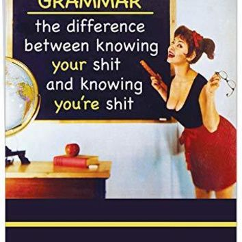 Jumbo Hilarious Birthday Card: Grammar, Funny Birthday Card - Free Shipping