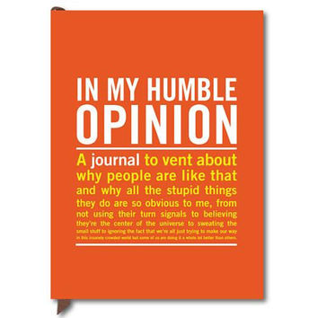 KNOCK KNOCK IN MY HUMBLE OPINION GUIDED JOURNAL