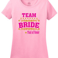 Maid of Honor Team Bride Bridal Shower Party T-shirt, Bachelorette Party T-shirt, Maid of Honor Wedding Party T-shirt, Bride Party Shirts