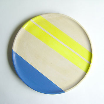 "Modern Neon Hardwood 10"" Dinner Plate, Electric Yellow"