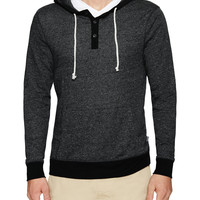 Threads 4 Thought Men's Hooded Henley - Black -