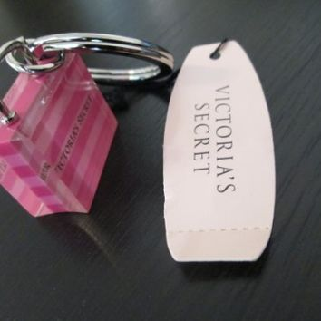 Victoria's Secret Bag Keychain NEW with Tags