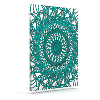 "Patternmuse ""Mandala Spin Jade"" Green Canvas Art"