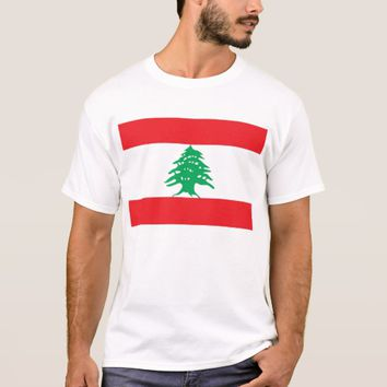 T Shirt with Flag of Lebanon