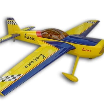 "RC Airplane Model Gasoline 100CC Katana 106.1"" Wooden Large 3D Plane Aircraft Common Film With Aluminum Landging Gear"