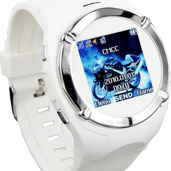 1pcs 1.5 Inch Wrist Phone Watch Cell phone MQ998 GSM Quad Band with Bluetooth MP3 MP4 FM 1.3MP Camera #W18