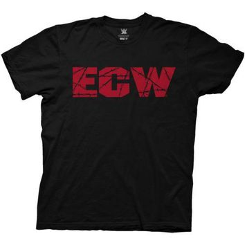 WWE Retro ECW Logo Wrestling Licenced Adult T Shirt
