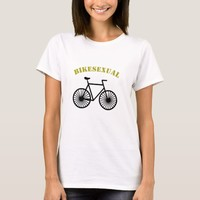 Cool sarcastic Bikesexual tee for Bike lovers