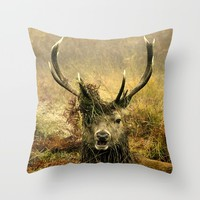 Stag Party Throw Pillow by Linsey Williams Wall Art, Clothing, And