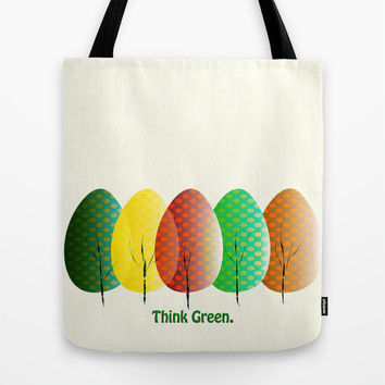 Love Nature. Love Trees Tote Bag by Miss L In Art