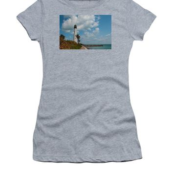 Cape Florida Lighthouse - Women's T-Shirt (Athletic Fit)