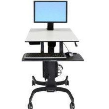 Ergotron Workfit-c Sit-stand Workstation For Single Lcd Monitor, Ld, With Mobile Cart Bas