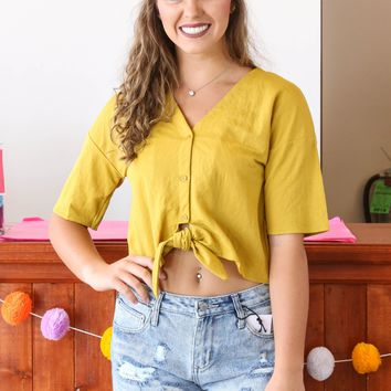 The Luca Top, Mustard