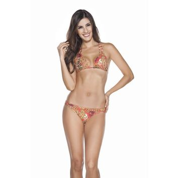Ondademar Camellia Triangle Bikini Set