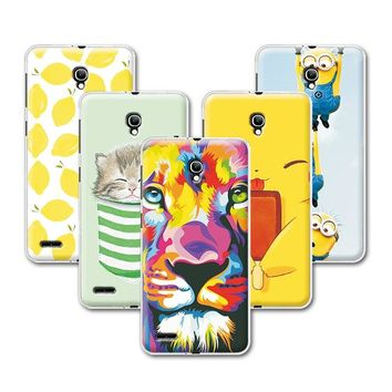 "Fruit Art Print Minions Banana Design Case For Alcatel One Touch Pop 2 5"" 7043A 7043Y 7043K 7044 Premium 5 inch +Pen Gift"