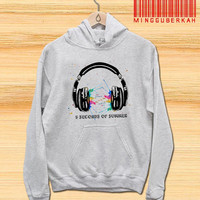 5 seconds of summer headPhone Pullover hoodies Sweatshirts for Men's and woman Unisex adult more size s-xxl at mingguberkah