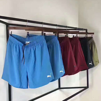 PUMA Casual Print Contracted Stripe Vertical Shorts G-A-GHSY-1
