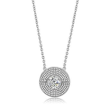 A Flawless 2CT Russian Lab Diamond Art Deco Style Necklace Pendant