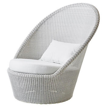 Kingston Lounge Chair, White - Outdoor | One Kings Lane