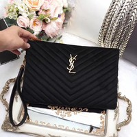 YSL SAINT LAURENT WOMEN CLASSIC VELVET HANDBAG