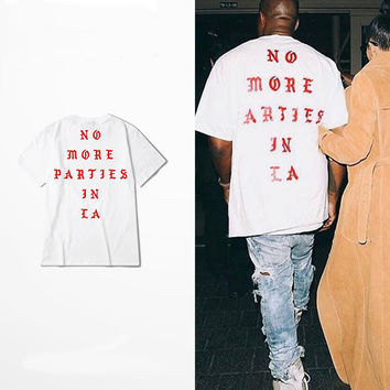NO MORE PARTIES TEE