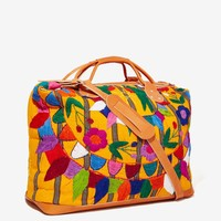 Stela 9 All End Embroidered Leather Weekender Bag