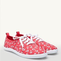 Anchor Lace-Up Oxford Sneakers