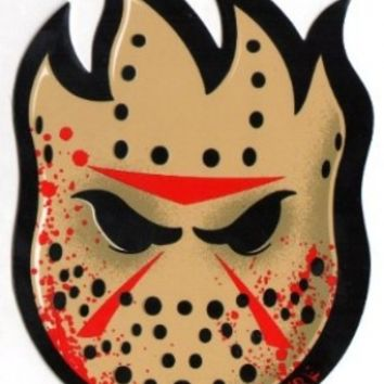 Spitfire Wheels Skateboard Sticker - Friday the 13th Horror Movie Jason Voorhees Hockey Mask
