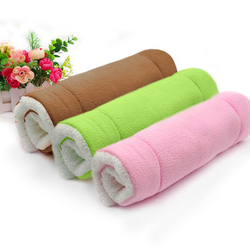 Warn Soft Fleece Dog Crate Mat Kennel Bed Pet Cat Dog Fluffy Cushion Washable Pink Green Coffee Colors S/M/L/XL Sizes
