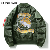 Embroidery Dragon Bomber Jackets Men Pilot Bomber Jacket Male Embroidered Badge Thin Coats Army Green
