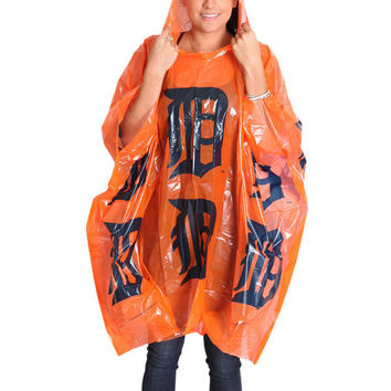 MLB Detroit Tigers Orange Lightweight Hooded Poncho