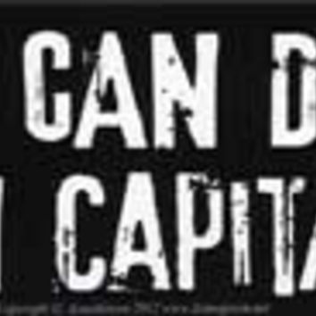 "America Can Do Better Than Capitalism bumper sticker - 11"" by 3"""