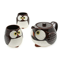 OWL TEA SET | Hand Painted, Mugs, Cups, Drinking, Hot Water, | UncommonGoods