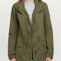 Military Anorak Jacket with Drawstring Waist