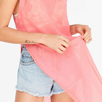Silence + Noise Monica Chiffon Muscle Tee Top | Urban Outfitters