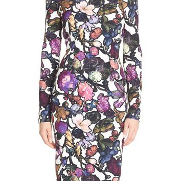 Women's Cynthia Rowley Floral Print Stretch Midi Dress,