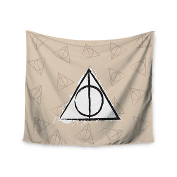 "Jackie Rose ""Hollows"" Tan Beige Wall Tapestry"