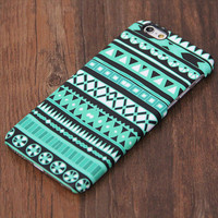 Stylish Green Aztec Design iPhone 6s Case/Plus/5S/5C/5/4S Protective Case #740