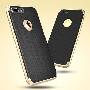Silicon Iphone 7 case with electroplated Trim