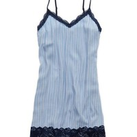 Aerie Women's Lace Trim Nightie (Aerie Blue)