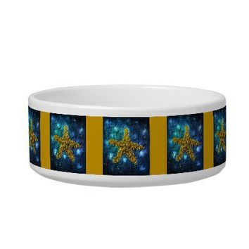 Gold Starfish Pet Bowl Cat Water Bowls from Zazzle.com
