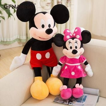 1pc 40/60cm High Quality Stuffed Mickey & Minnie Mouse Plush Toy Dolls Birthday Wedding Gifts For Kids Baby Children