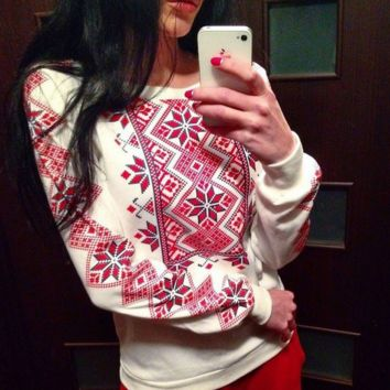 Soft Comfortable Ethnic Pullover Sweatshirt